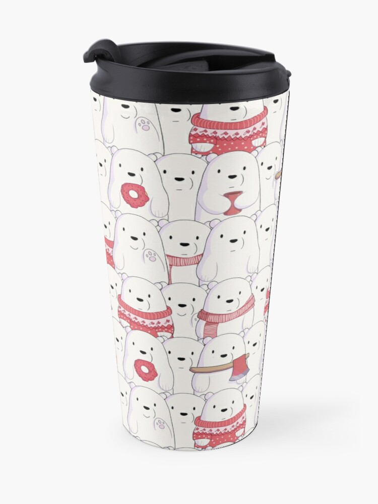 Alternate view of Ice Bear's sweater weather Travel Mug