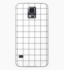 Gitter (weiß) Hülle & Klebefolie für Samsung Galaxy
