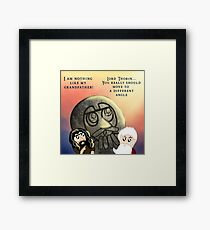 Thorin Oakenshield and the Statue of Thror Framed Print