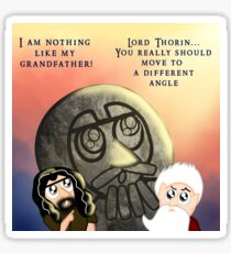 Thorin Oakenshield and the Statue of Thror Sticker