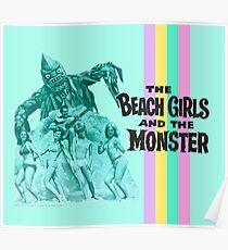 Beach Girls Love Monsters Poster