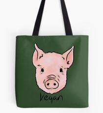Vegan Pig Piggy Animal Rights Design Tote Bag