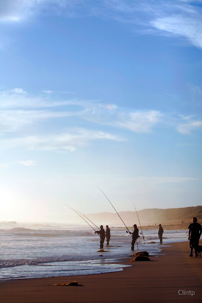 Surf Fishing at Dusk by Clinton Plowman
