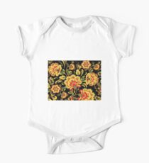 Orange and Red Flower Print Kids Clothes