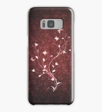 Floral vintage [red] Samsung Galaxy Case/Skin