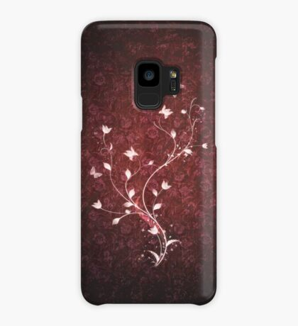 Floral vintage [red] Case/Skin for Samsung Galaxy