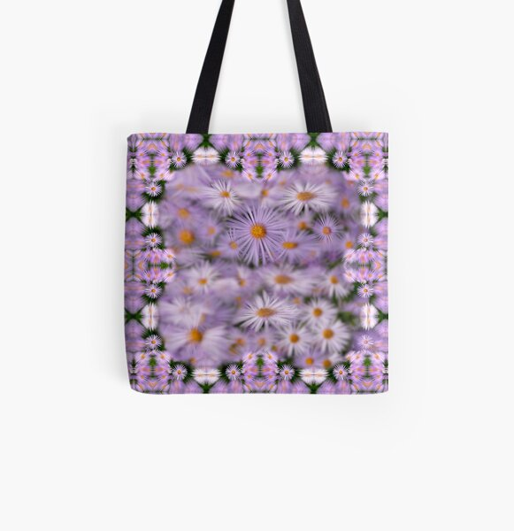 Purple daisies All Over Print Tote Bag