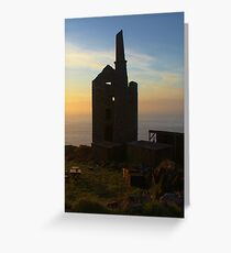 Botallack Mine sunset Greeting Card