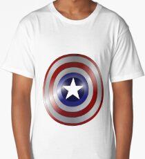 metallic america shield Long T-Shirt
