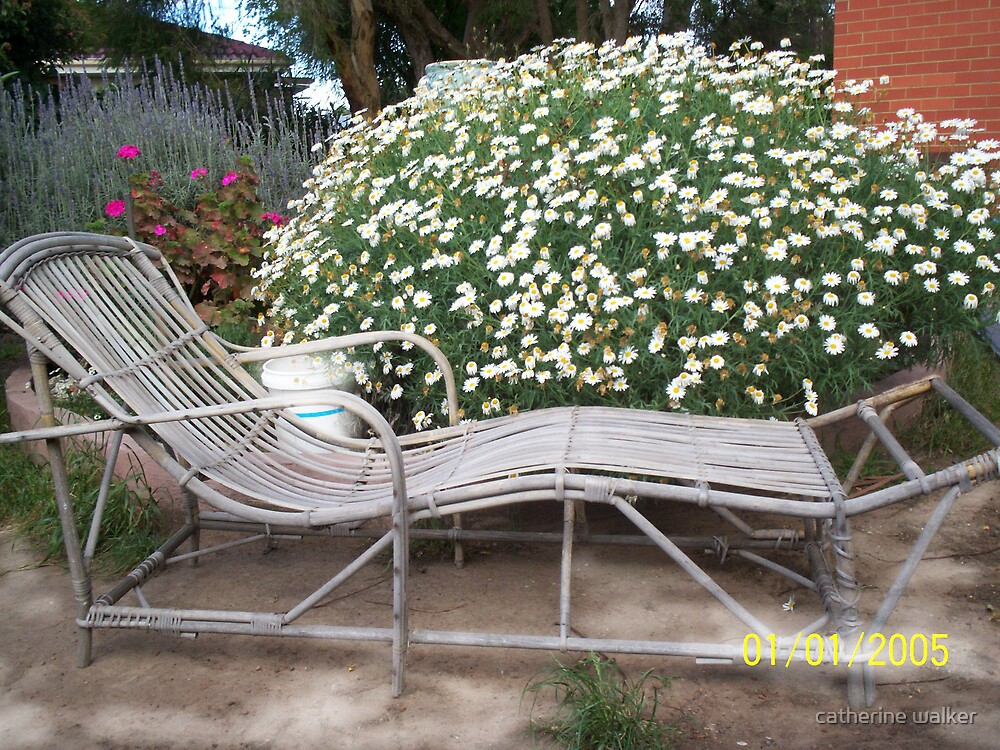 Old Garden chair Salvaged from a hard rubbish pile..I love it! by catherine walker