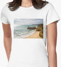 Sun and Clouds and Rough Landforms at a Beach in Algarve Portugal T-Shirt
