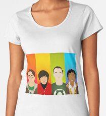 Die Big Ben Theorie - Umrisse Frauen Premium T-Shirts