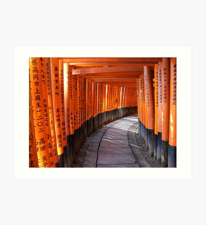 The torii gates of Fushimi Inari-taisha Art Print