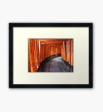 The torii gates of Fushimi Inari-taisha Framed Print