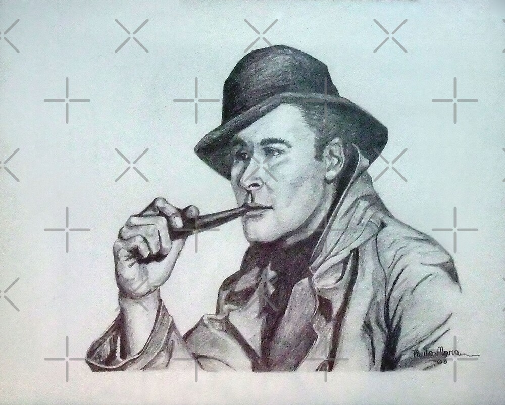 Errol Flynn Portrait by Paula Busto
