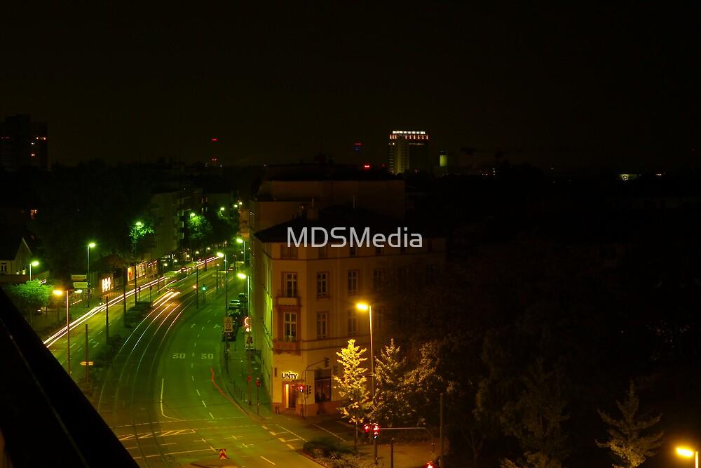 Frankfurt Night Streetscape 1 by MDSMedia