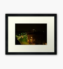 Frankfurt Night Streetscape 1 Framed Print