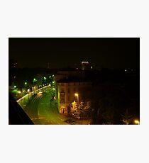 Frankfurt Night Streetscape 1 Photographic Print