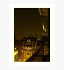 Frankfurt Night Streetscape 2 Art Print