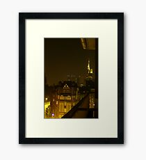 Frankfurt Night Streetscape 2 Framed Print