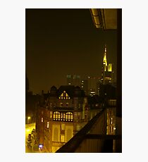 Frankfurt Night Streetscape 2 Photographic Print
