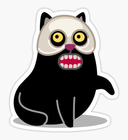 Masquerade Cat tshirt Sticker