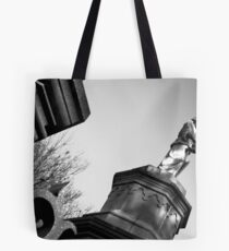 binded by bars Tote Bag