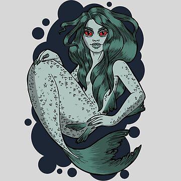 Evil mermaid by WildSally