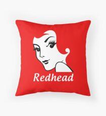 Miss Redhead (text) [iPad / Phone cases / Prints / Clothing / Decor] Throw Pillow
