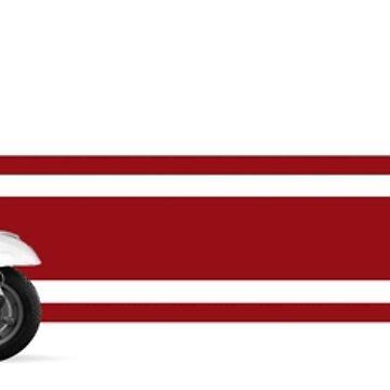 White Vespa Primavera ET3 + Stripes by redstar5