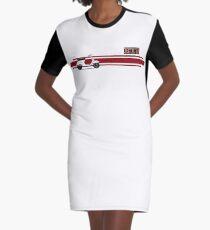 White Vespa Primavera ET3 + Stripes Graphic T-Shirt Dress