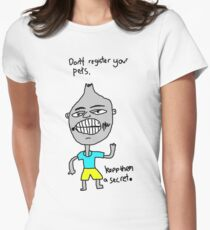 Don't register your pets Women's Fitted T-Shirt