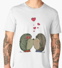 Hedgehogs in love Men's Premium T-Shirt