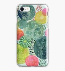 Succulent Circles iPhone Case/Skin