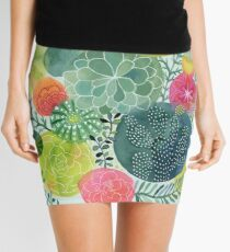 Succulent Circles Mini Skirt