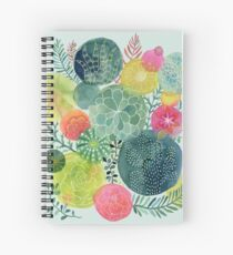 Succulent Circles Spiral Notebook