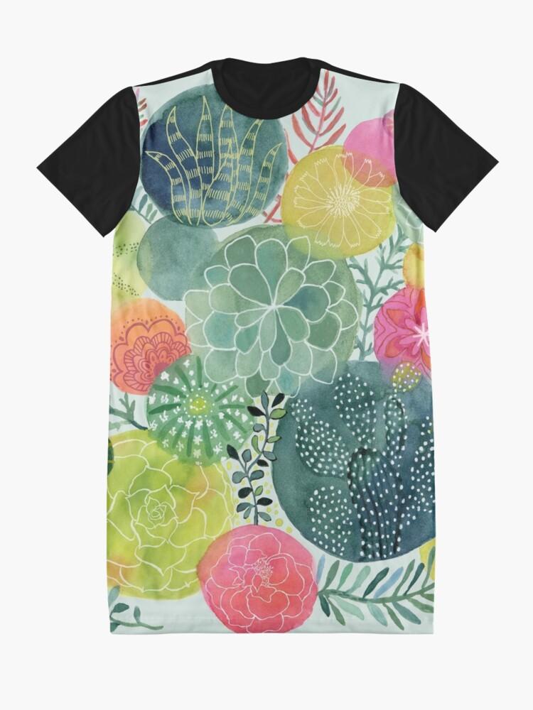 Alternative Ansicht von Sukkulenten Kreisen T-Shirt Kleid
