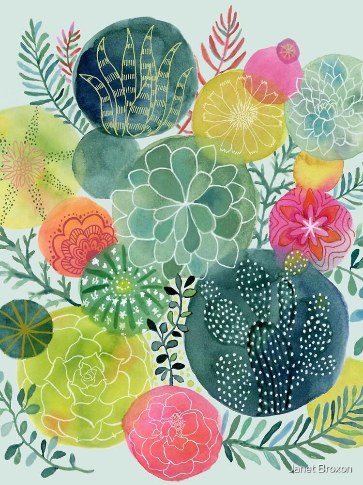 Succulent Circles by jbroxon