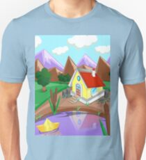 Background house in the mountains T-Shirt