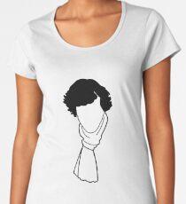 Private detective Sherlock Holmes. The hero of the popular TV series. Design for announcement, print. Women's Premium T-Shirt