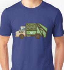Thoughts and Prayers Garbage Truck Pro-Gun Control Unisex T-Shirt