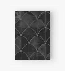 Cuaderno de tapa dura Mermaid scales. Black and white watercolor.