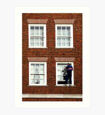 Window Washer Art Print