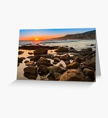 White's Point Sunset 2 Greeting Card
