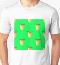 Set of Fresh Mango on Green Background. Seamless Mango Fruit Pattern T-Shirt