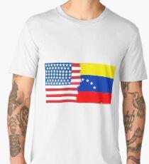 Half Venezuelan Half American Flag Mix Men's Premium T-Shirt