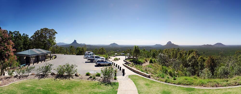 Mt. Beerwah lookout. by David James