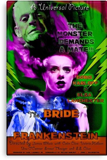 Bride of Frankenstein Retro Style  by judgehydrogen