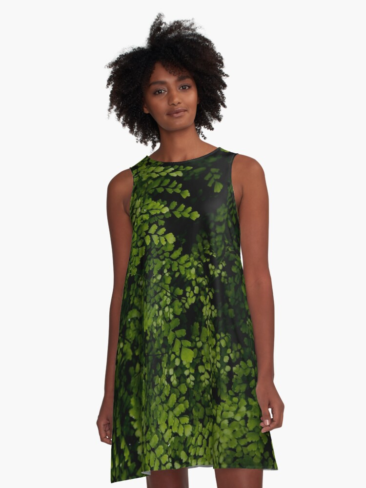 Small leaves.  A-Line Dress Front