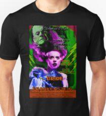 Bride of Frankenstein Retro Style  T-Shirt